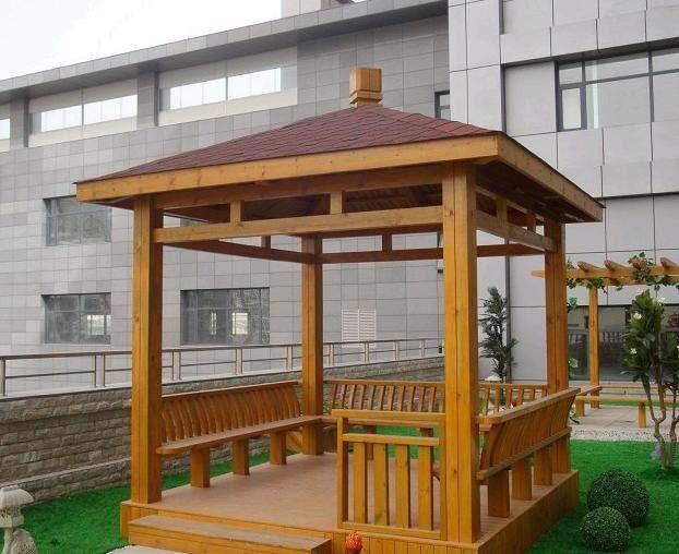木凉亭 廊架 园林景观